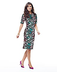 JOANNA HOPE Print Scuba Jersey Dress