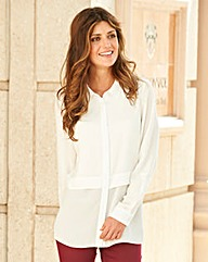 JOANNA HOPE Layered Chiffon Blouse