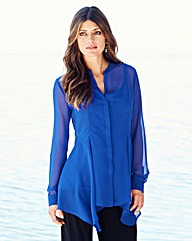 JOANNA HOPE Shaped Hem Blouse