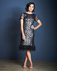 JOANNA HOPE Metallic Lace Dress