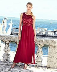 JOANNA HOPE Sequin Maxi Dress and Bolero