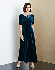 JOANNA HOPE Velour Maxi Dress