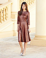 JOANNA HOPE Bow Back Metallic Dress