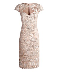 JOANNA HOPE Short Sleeved Lace Dress