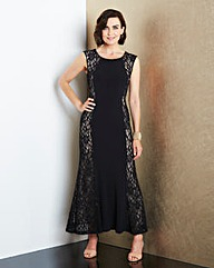JOANNA HOPE Lace-Panel Maxi Dress