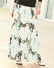 JOANNA HOPE Print Pleated Maxi Skirt