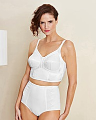 Firm Control Dotty Pantee Girdle, White