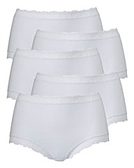 White Five Pack Shortie Briefs
