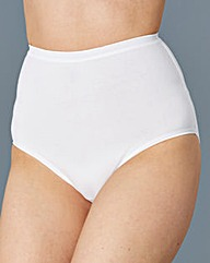 White Three Pack Full Fit Briefs