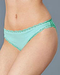 Assorted Five Pack Lace Bikini Briefs