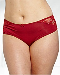 Naturally Close Lace Hi Leg Briefs
