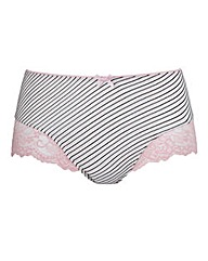 Pink/Black Stripe Shortie Briefs