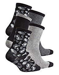 Naturally Close 5 Pack Ankle Socks