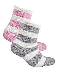 Naturally Close 2 Pack Fluffy Socks