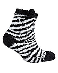 Naturally Close Fluffy Zebra Socks