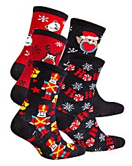 Naturally Close 5 Pack Christmas Socks