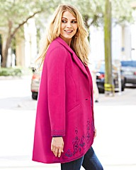 JOANNA HOPE Embroidered Coat