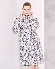 Lilac Print Fleece Gown L42