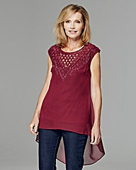 JOANNA HOPE Beaded Cutwork Tunic