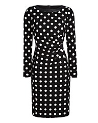 JOANNA HOPE Spot Print Jersey Dress