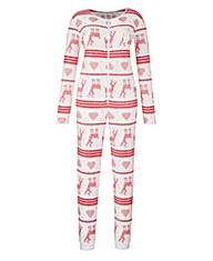 Pretty Secrets Reindeer Fleece Onesie