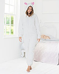 Pretty Secrets Hooded Fleece Onesie