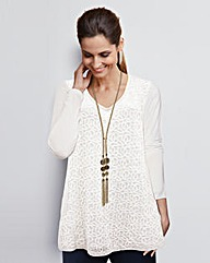 Together Lace Jersey Tunic