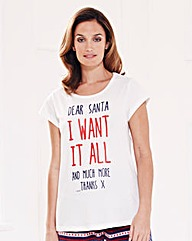 Pretty Secrets Christmas Pyjama Top