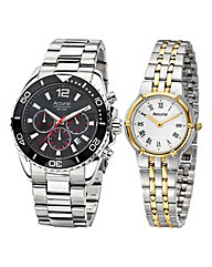 Accurist His and Hers Watch Set