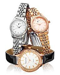 Ladies Trio Bracelet Watch Set