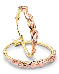 Clogau Tree of Life Gold Hoop Earrings