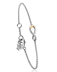 Clogau Eternity Diamond Drop Bracelet