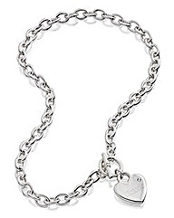 Personalised Heart T-Bar Necklace