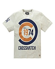 Crosshatch Fazedown Cream T-Shirt