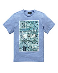 Label J Michigan Stripe T-Shirt Regular