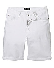 Label J White Denim Short