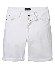 Label J White Denim Short