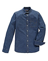 Flintoff by Jacamo L/S Denim Shirt Long