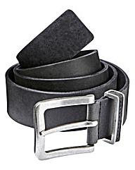 Black Label By Jacamo Royan Leather Belt