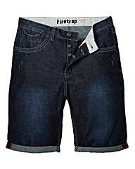 Firetrap Greengrass Indigo Wash Shorts