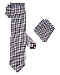 Black Label Tie & Pocket Square Set
