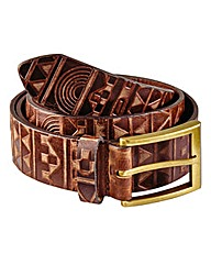 Label J Aztec Embossed Belt