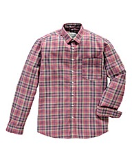 Jacamo Crew Long-Sleeve Check Shirt Reg