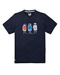 Weekend Offender Heels Navy T-Shirt Reg