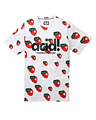 Weekend Offender Acid Strawberry Tee L