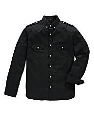 Jacamo Long Sleeve Black Military Shirt