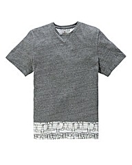 Label J Slub Panel T-Shirt Regular