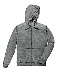 Label J Marl Zip-Thru Hoody Long Length