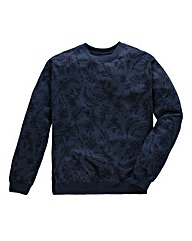 Label J Floral Print Marl Crew Sweat L
