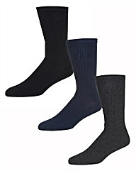 Wolsey 3 Pack Soft Grip Cotton Socks